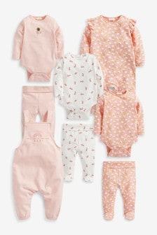 Pink Organic Cotton 8 Piece Set (0mths-2yrs)