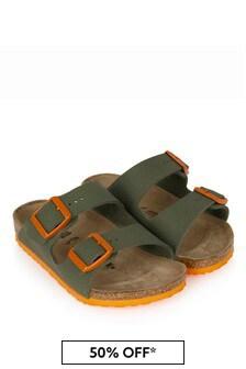 Birkenstock Boys Green Arizona Sandals