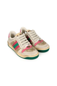 GUCCI Kids Leather Screener Trainers