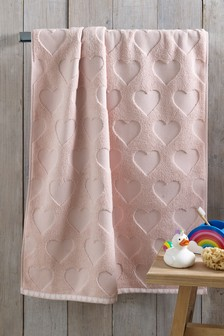 Pink Pink Heart Towel