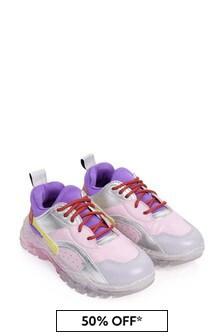 Stella McCartney Kids Girls Pink Colourblock Trainers