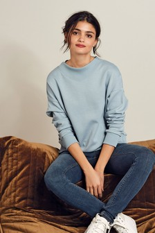 Blue Collar Detail Sweatshirt