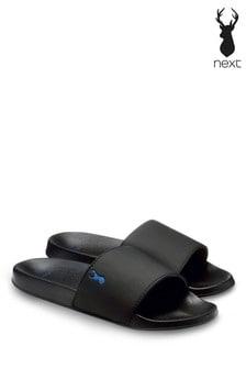 Black Stripe Stag Sliders