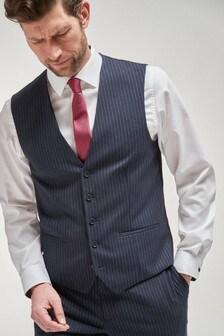 Blue Stripe Suit: Waistcoat