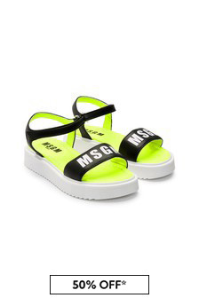 MSGM Girls Black Sandals