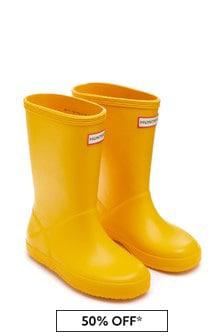 Hunter Kids Yellow Wellington Boots