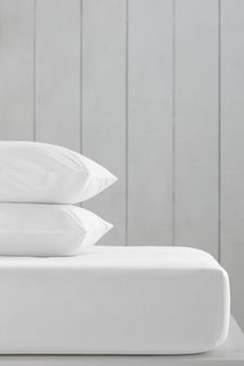 White White Cotton Rich Fitted Sheet