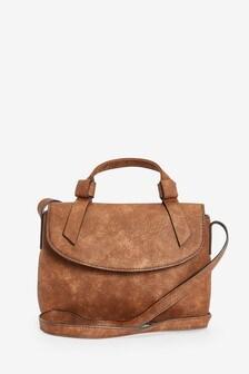 Chocolate Mini Knot Across Body Bag