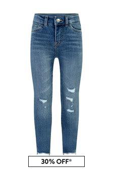 Levis Kidswear 720™ Girls Blue Cotton High Rise Super Skinny Jeans