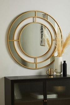 Gold Large Statement Frame Mirror