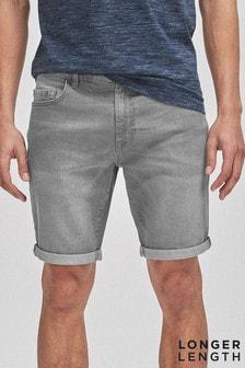 Grey Denim Shorts