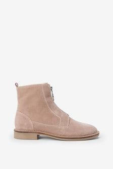 Mink Signature Zip Boots
