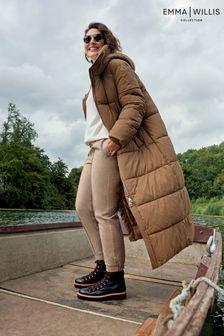 Camel Emma Willis Long Padded Duvet Coat