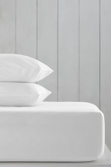 White White Cotton Rich Deep Fitted Sheet