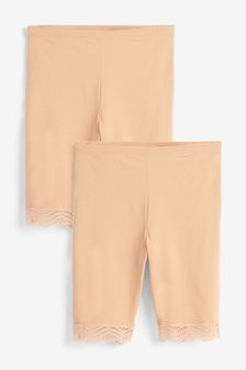 Nude Cotton Blend Anti-Chafe Shorts Two Pack