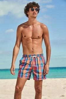 Multi Check Swim Shorts