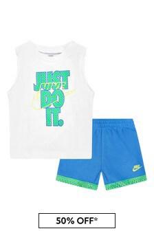 Nike 베이비 보이즈 화이트 코튼 세트
