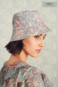 Pink Morris & Co Print Reversible Bucket Hat