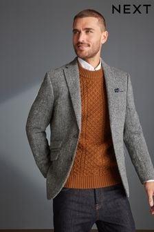 Grey Signature Harris Tweed Blazer