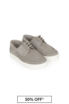 Bonpoint Boys Beige Leather Loafers