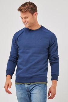 Denim Blue With Stag Crew Sweatshirt