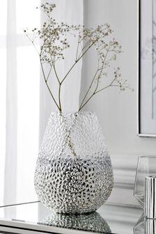 Silver Silver Monroe Glass Vase