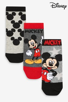 Monochrome 3 Pack Mickey Mouse™ Socks (Younger)