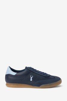 Navy Blue Stag Trainers