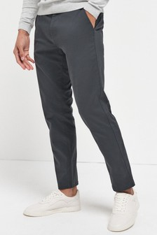 Charcoal Stretch Chinos