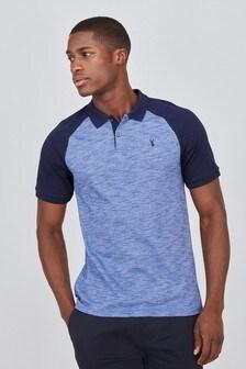 Blue/Navy Raglan Polo Shirt