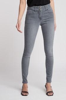 Light Grey Enhancer Skinny Jeans