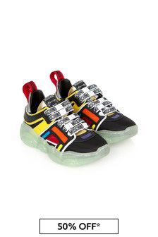 Moschino Kids Multi Leather Trainers