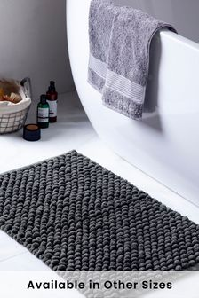 Charcoal Grey Giant Bobble Bath Mat Bath Mat