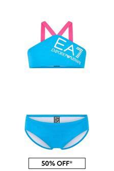 EA7 Emporio Armani Girls Blue Bikini