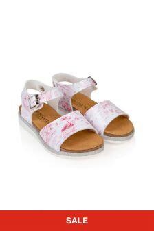 Monnalisa Girls White Sandals