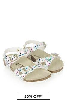 Birkenstock Girls White Rio Sandals