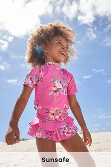 Pink 2 Piece Sunsafe Suit (3mths-7yrs)