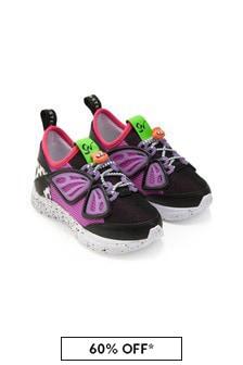 Sophia Webster Girls Black Fly-By Sneakers