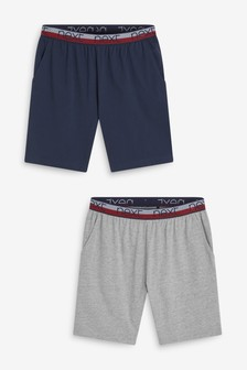 Navy/Grey Lightweight Jersey Shorts Two Pack
