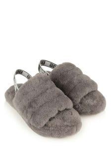 UGG Grey Fluff Yeah Slide Sandals
