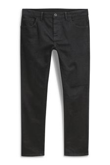 Solid Black Stretch Jeans