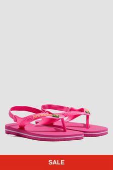 Havaianas Baby Girls Pink Flip Flops