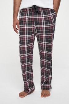 Plum Check Cosy Pyjama Bottoms