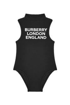 Burberry Kids Girls Black Swimsuit