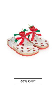 Monnalisa Girls Red Sandals
