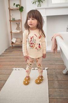Ochre/Green Fairy 3 Pack Pyjamas (9mths-12yrs)