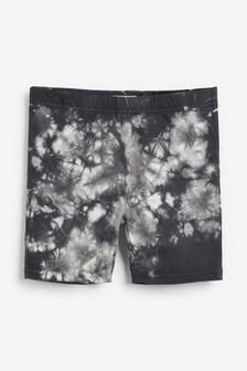 Monochrome Tie Dye Cycle Shorts (3-16yrs)