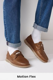 Brown Motionflex Boat Shoes