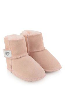 UGG Pink Suede Erin Booties