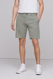 Light Khaki Green Stretch Chino Shorts